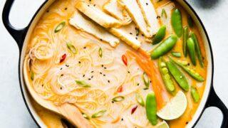 Hot & Sour Coconut Noodle Soup (Vegan)