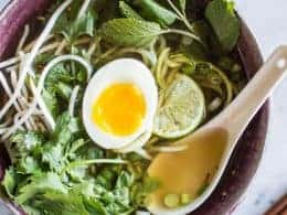 Quick Vegetarian Pho with Zucchini Noodles