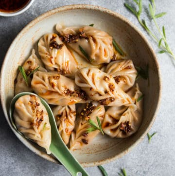 Braided Red Curry Tofu Dumplings
