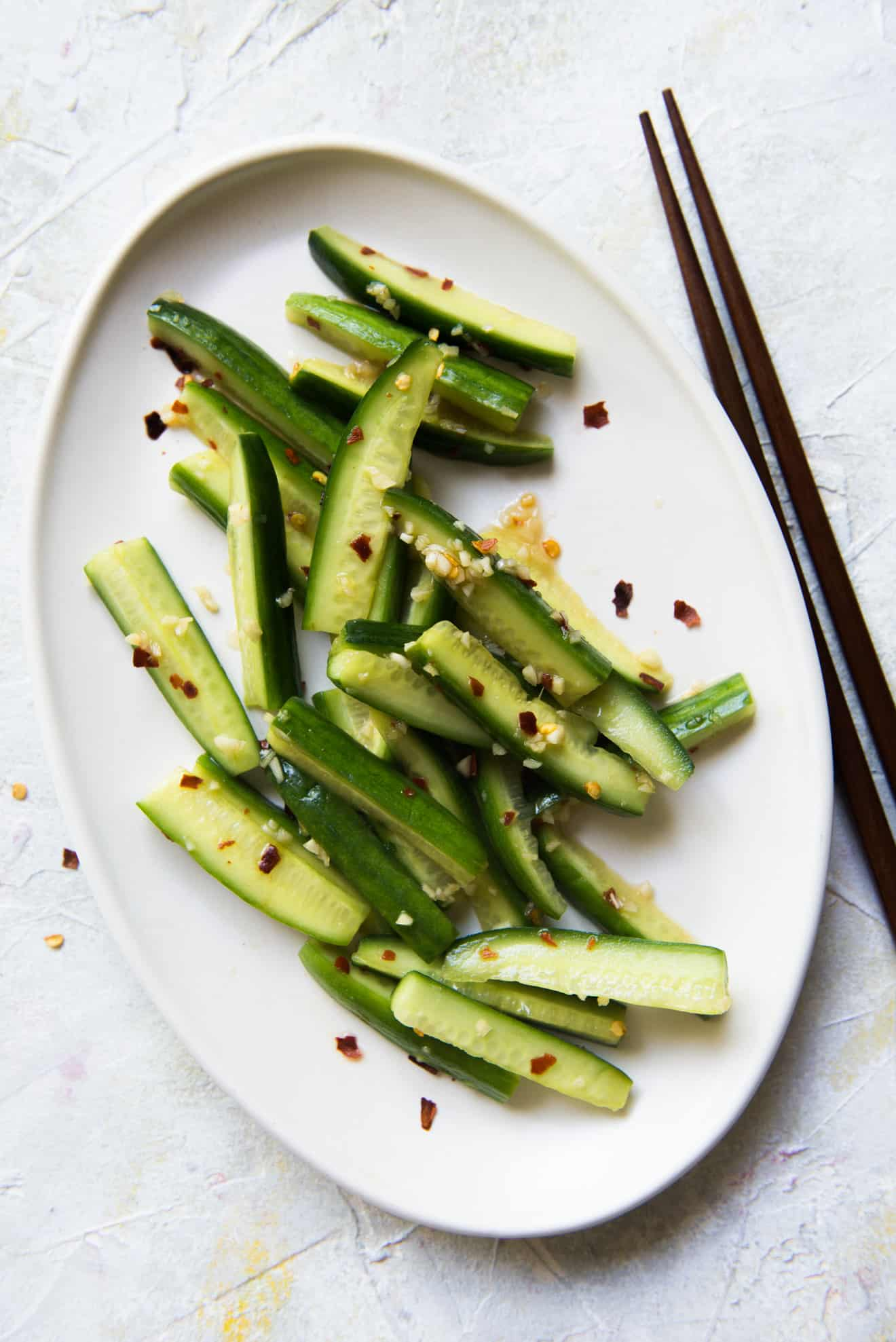 Garlicky & Spicy Cucumber Salad