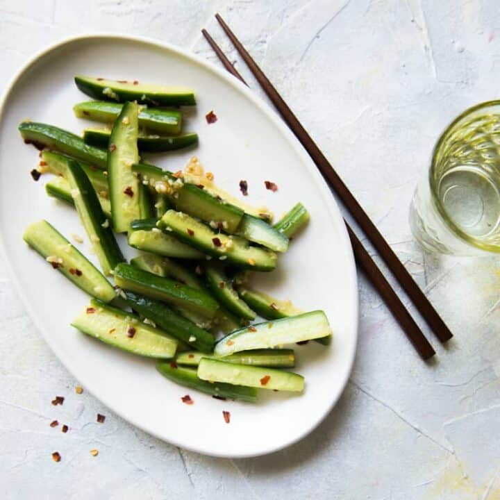 Garlicky & Spicy Cucumber Salad
