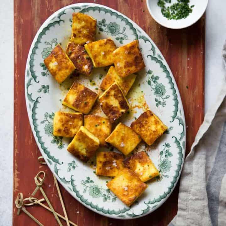 Curried Fried Paneer Recipe