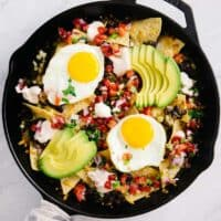 Loaded Breakfast Nachos - easy gluten-free meal in 20 minutes! Perfect for brunch