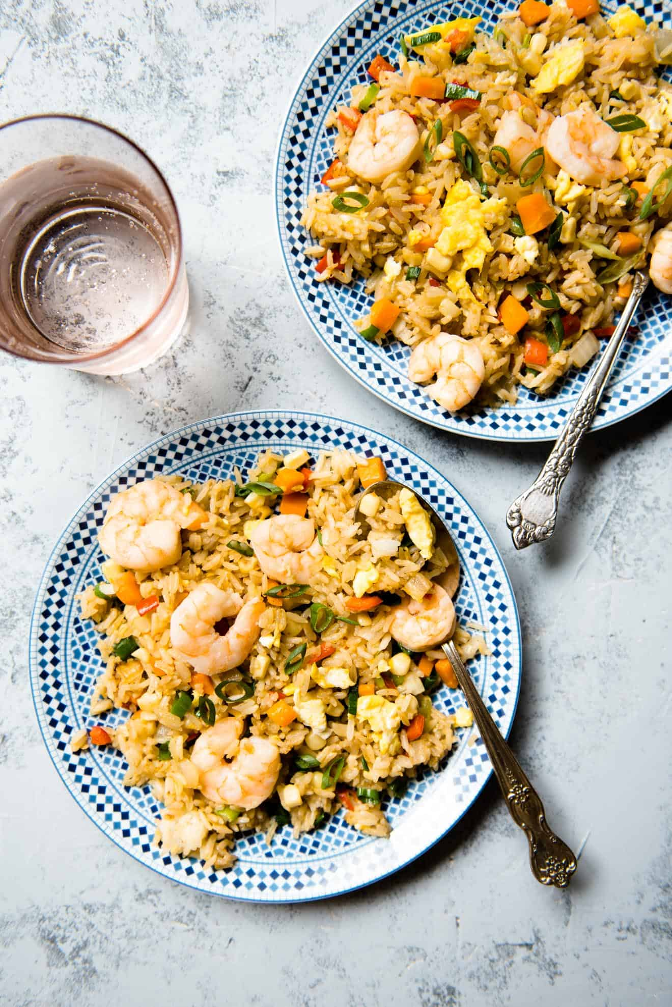 Shrimp Fried Rice - easy, healthy meal in less than 30 minutes!