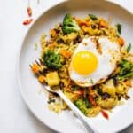 Yellow Curry Fried Rice with Potatoes - easy vegetarian meal
