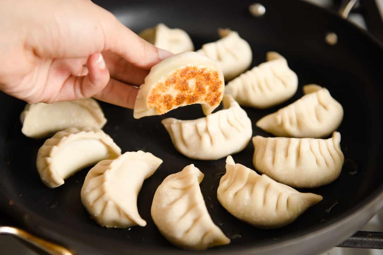 Pan Frying Potstickers