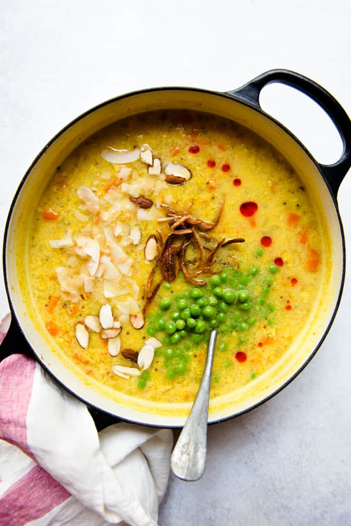 Coconut Red Lentil Soup Recipe (vegan) - delicious one-pot meal