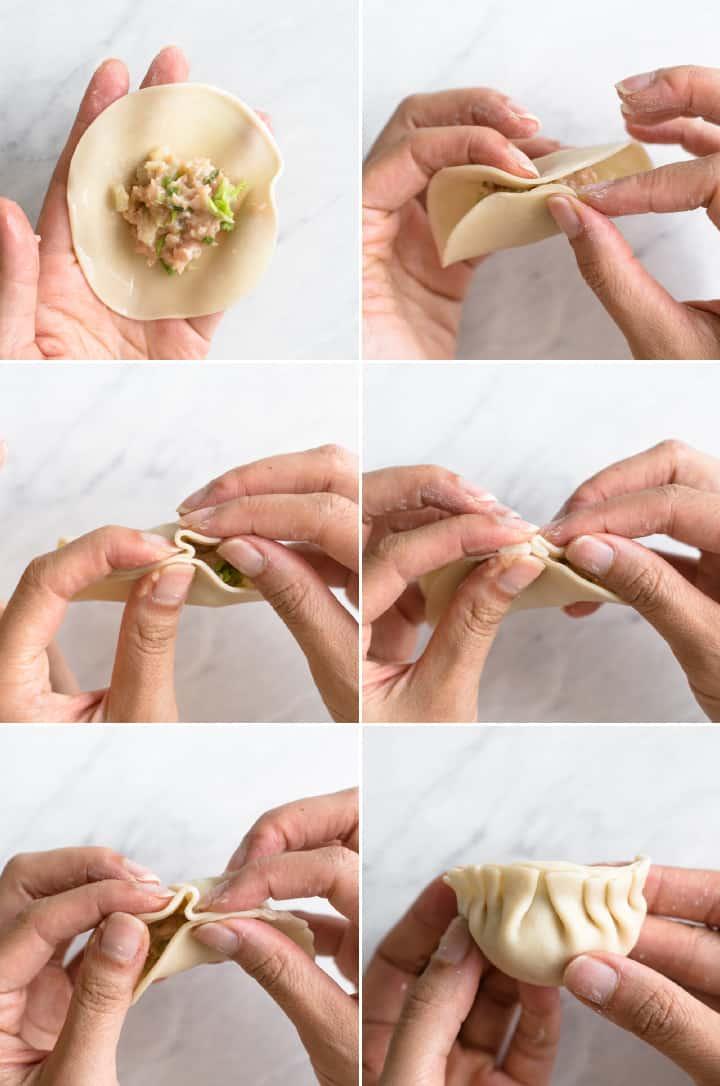 Chicken Potstickers Inward Fold