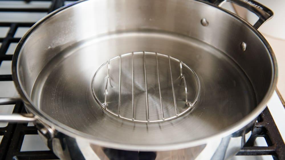 Saute Pan Steaming Setup