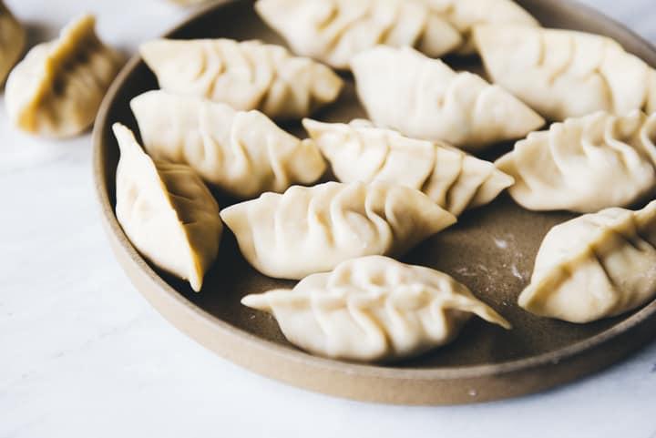 Tofu and Kimchi Dumplings Recipe