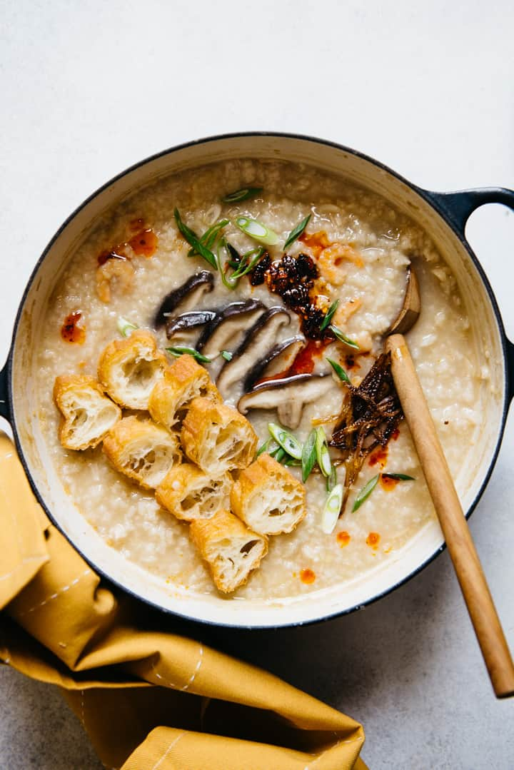 Basic Conjee Recipe (jook) - a simple recipe for Chinese rice porridge!