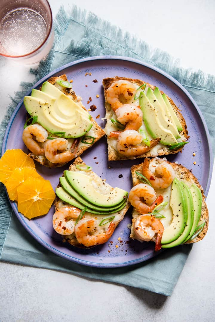 Orange Honey Shrimp Avocado Toast