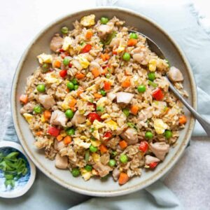 Chicken Fried Rice - a simple fried rice ready in 30 minutes!