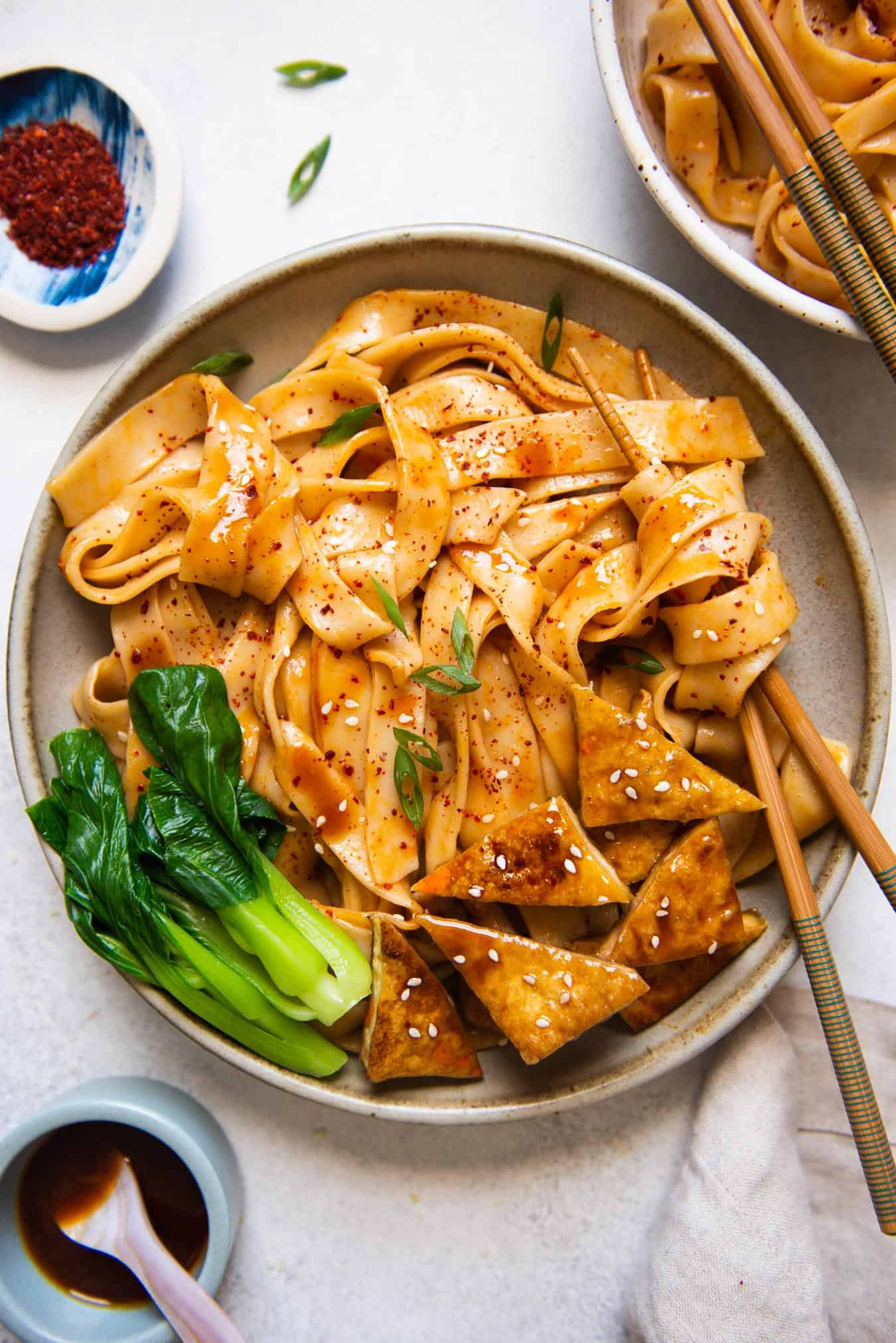 Easy Homemade Noodles with Spicy Peanut Sauce