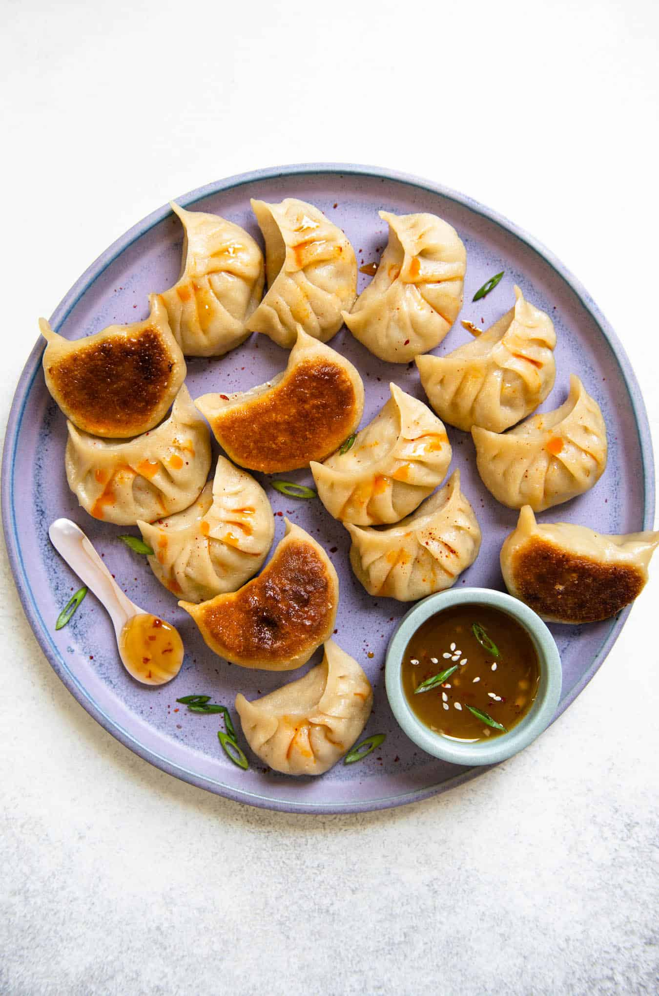 Pork Cabbage Potstickers - includes step-by-step photos