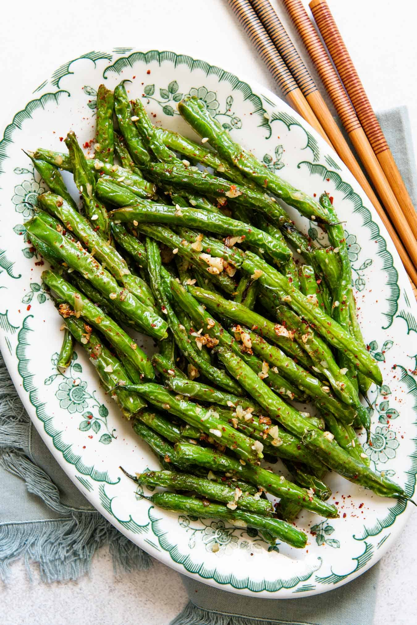 Chinese Garlic Green Beans - simple side dish for dinner!