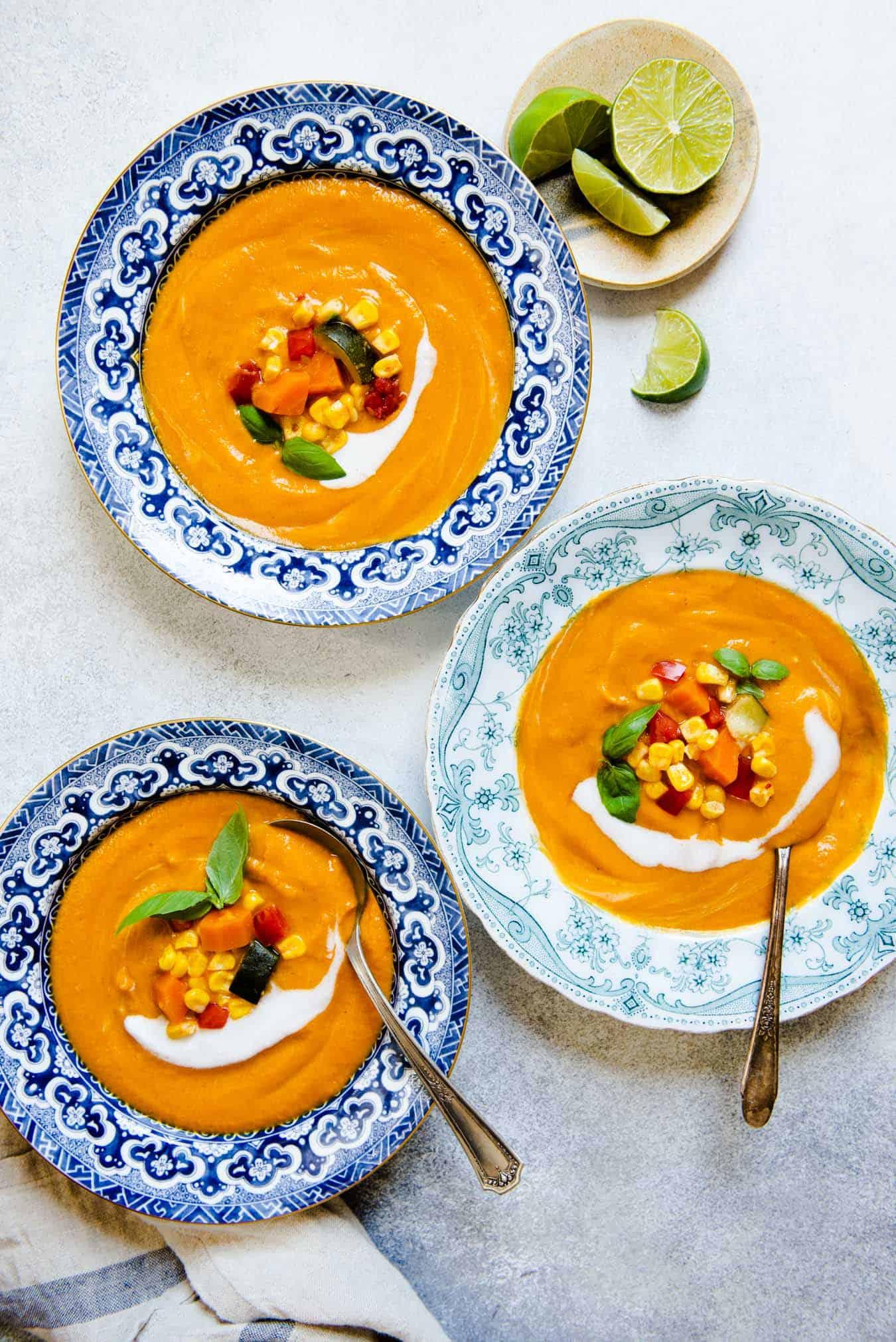 Summer Vegan Creamy Vegetable Soup