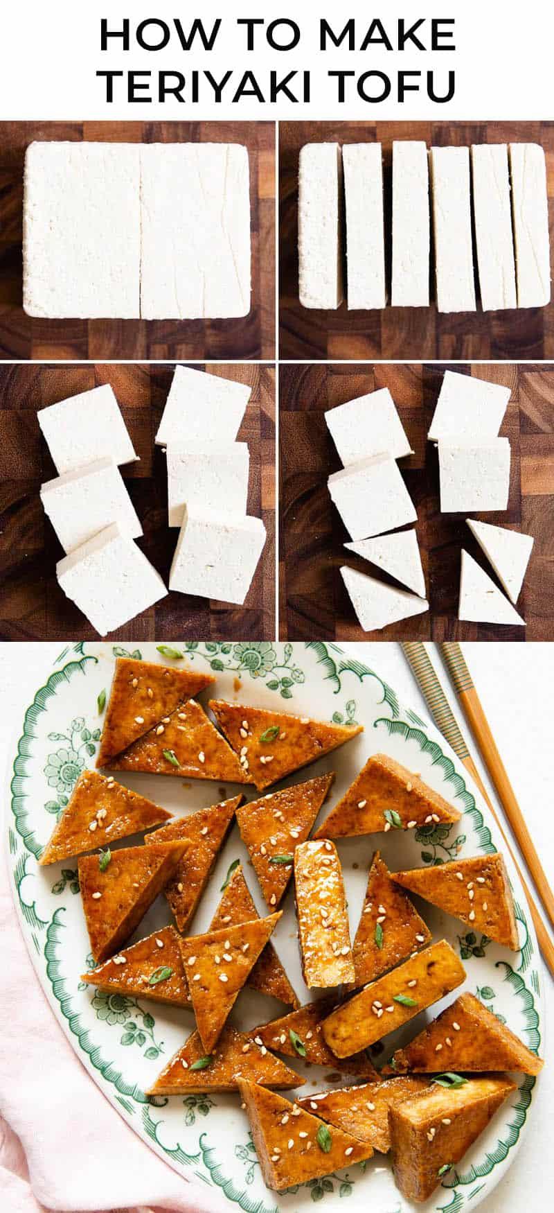 Crispy tofu in teriyaki sauce
