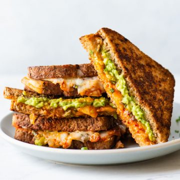 Kimchi and Avocado Grilled Cheese Sandwich