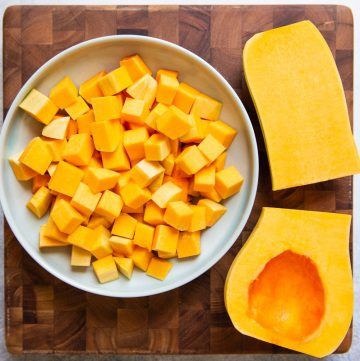 How to Cut Butternut Squash - a step-by-step guide with video