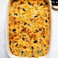 Baked Sweet Potato Mac and Cheese - a simple vegetarian dish for all your parties!