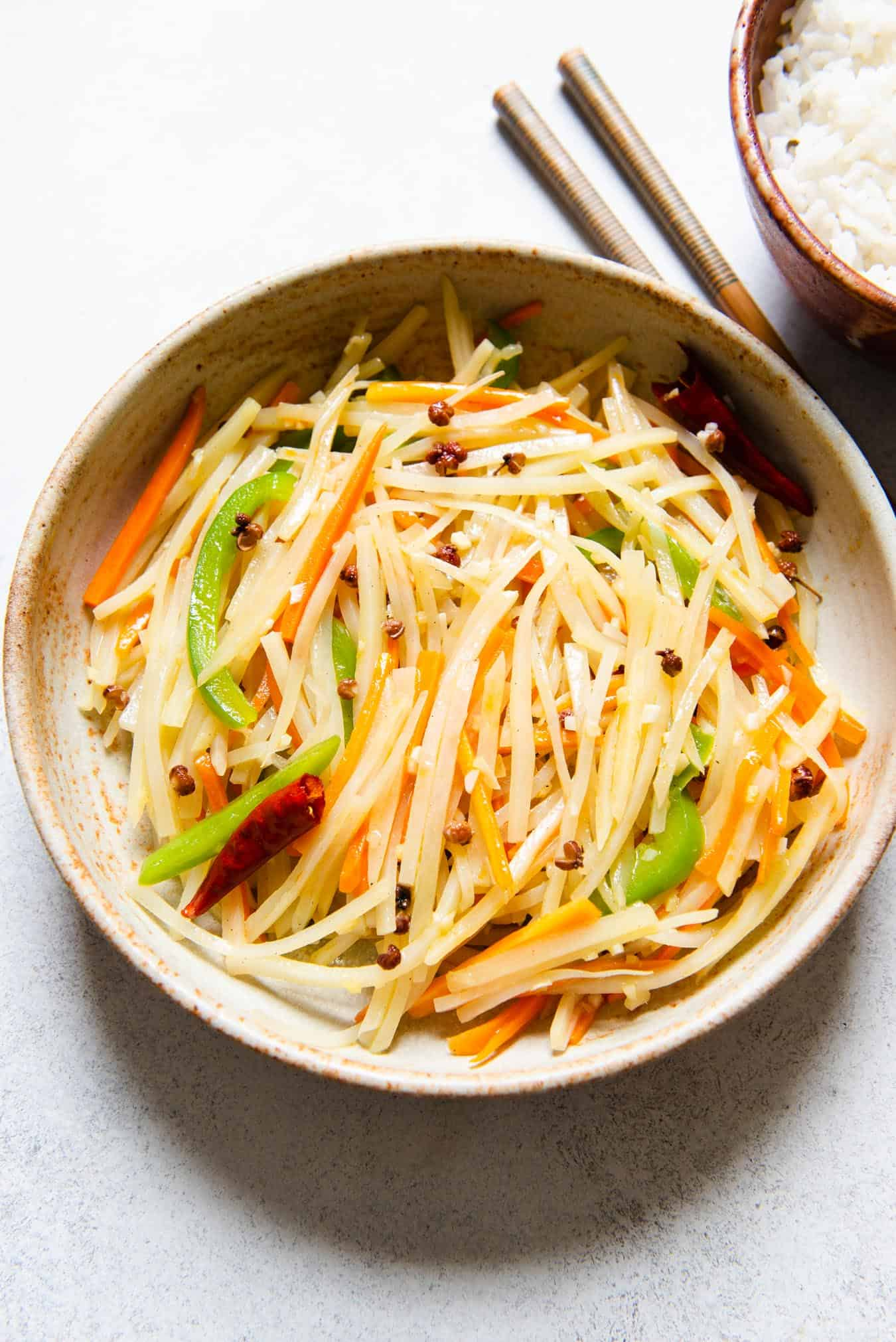 Tudou Si - Chinese Stir Fried Shredded Potatoes