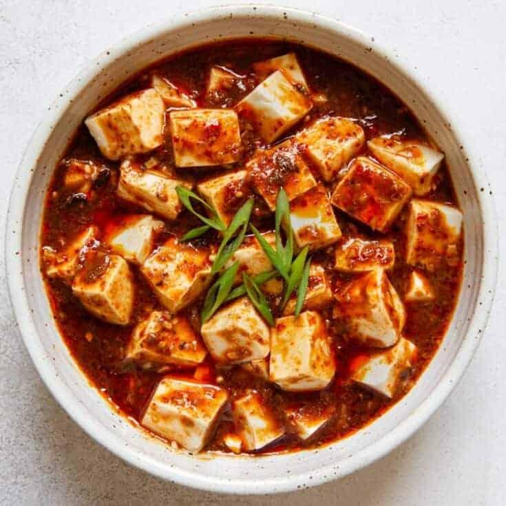 Vegan Mapo Tofu Ç´é£Ÿéº»å©†è±†è… Healthy Nibbles