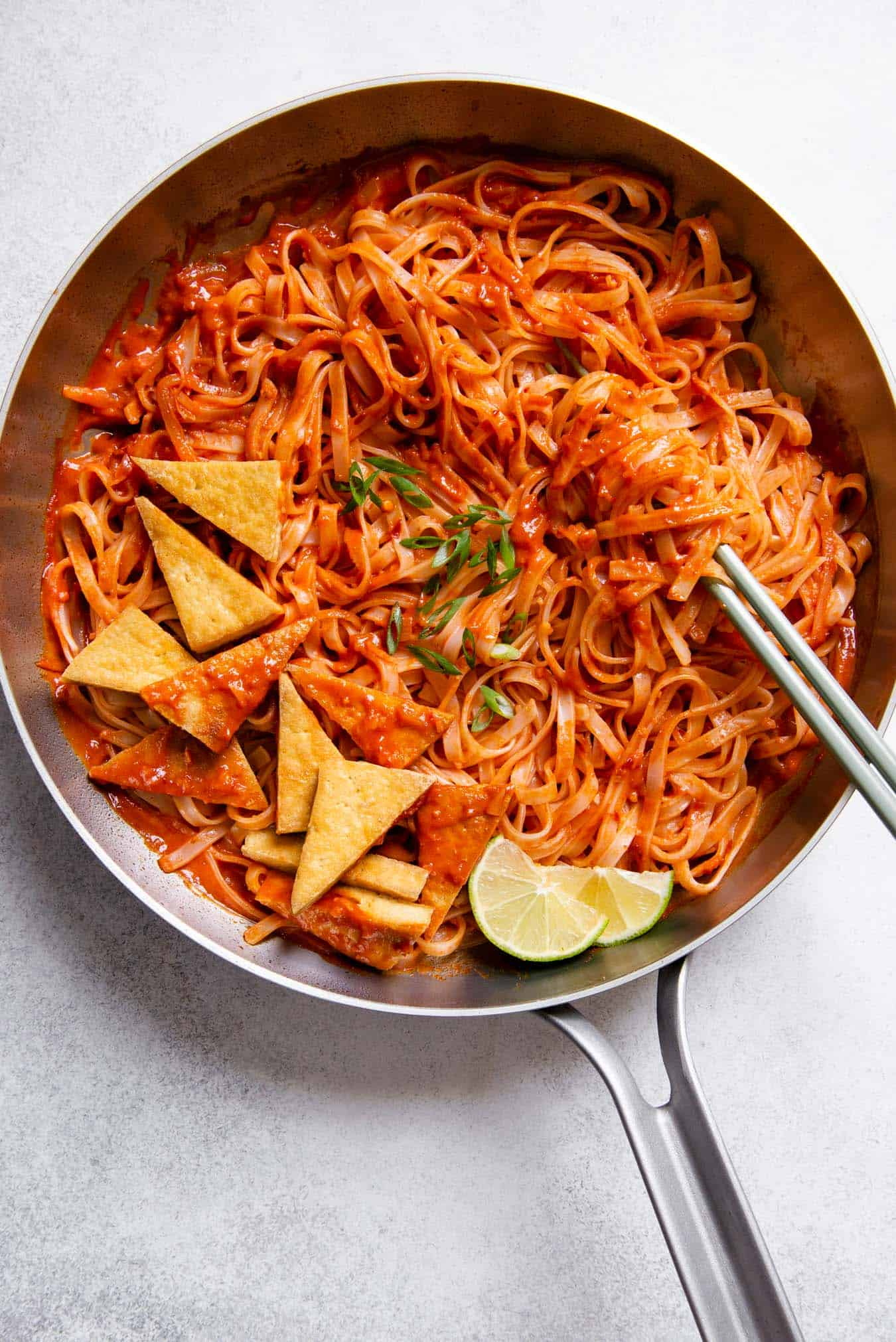 30-Minute Spicy Noodles Recipe with Pan-Fried Tofu