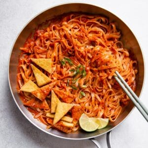 Spicy Noodles with Pan-Fried Tofu FF