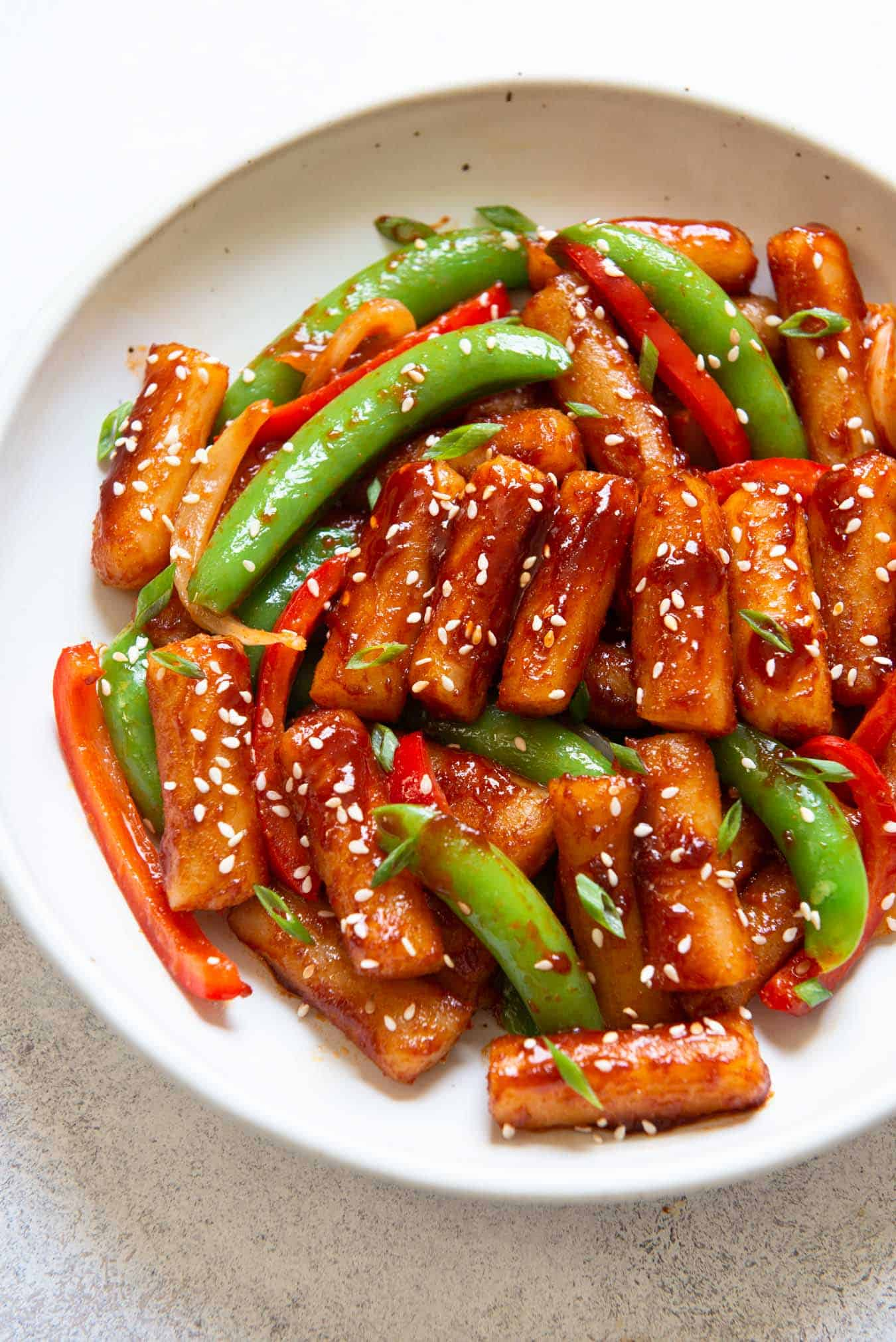 Stir Fried Spicy Rice Cakes