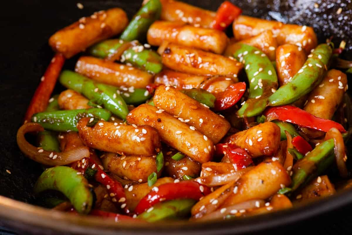 Stir Fried Spicy Rice Cake