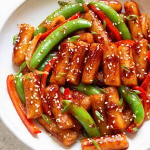 Stir Fried Spicy Rice Cakes