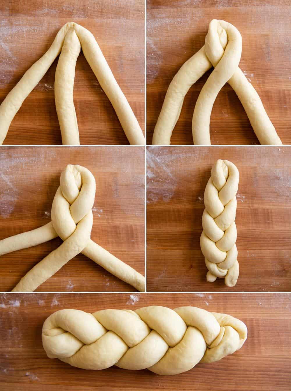 Braiding Dough Collage