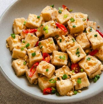 Salt and Pepper Tofu - easy vegan side dish