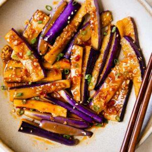 Spicy Eggplant Stir Fry