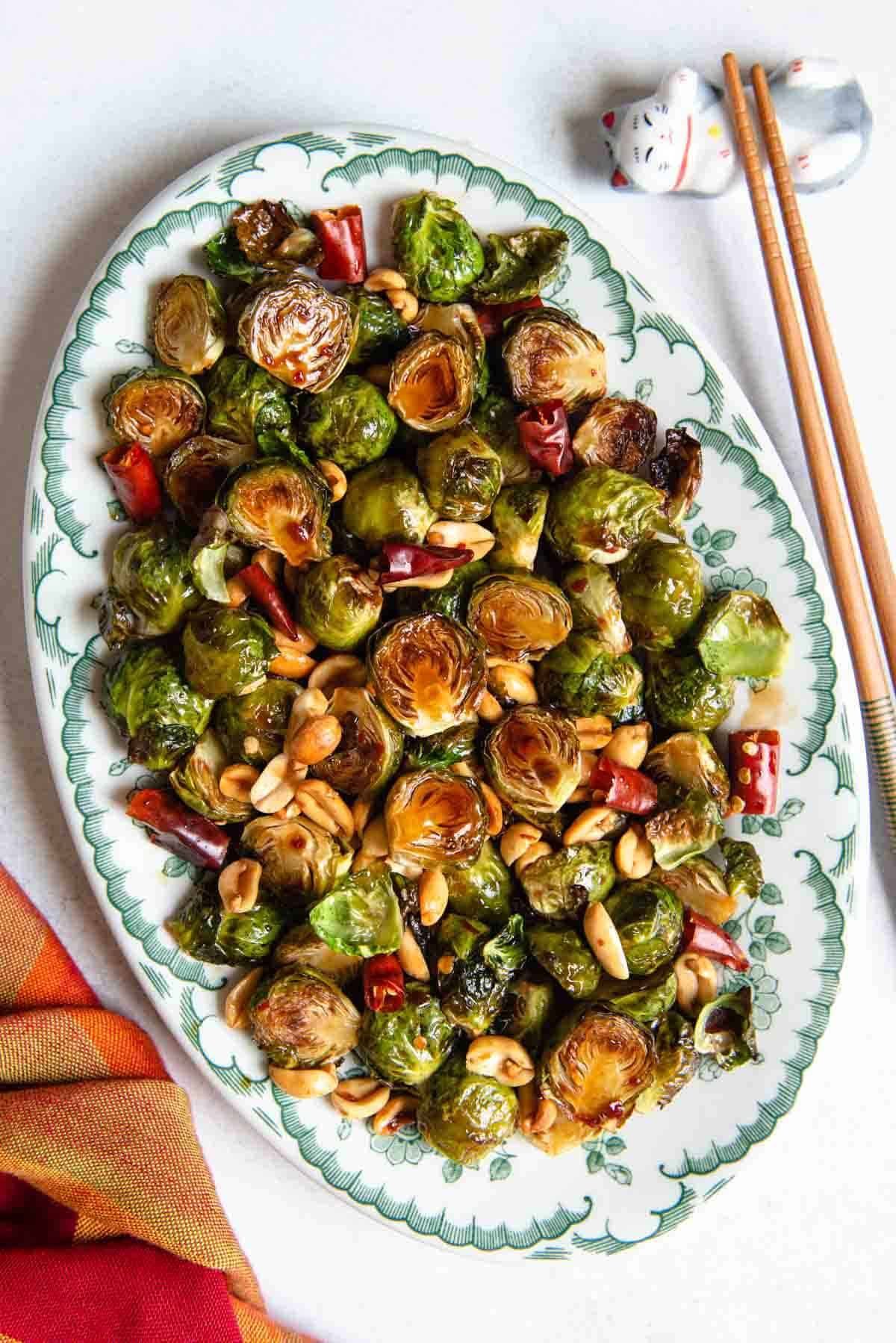 Kung Pao Brussel Sprouts