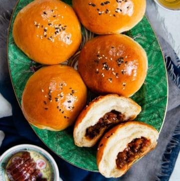 Baked Char Siu Bao - Cha Siu Bao, Chinese BBQ Pork Buns