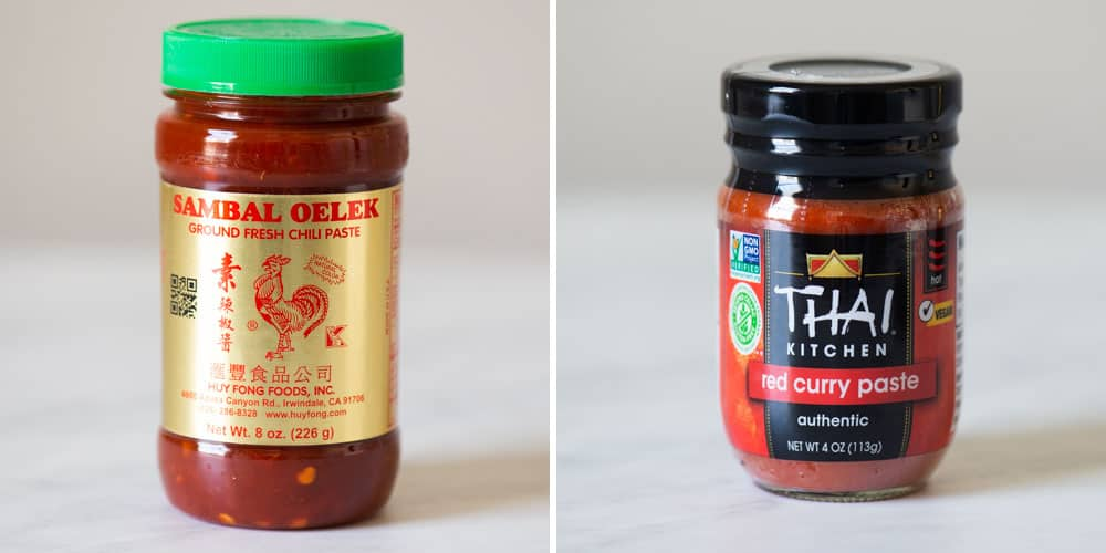 Sambal Oelek and Curry Paste
