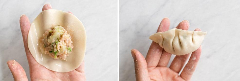 Alternate potsticker pleating