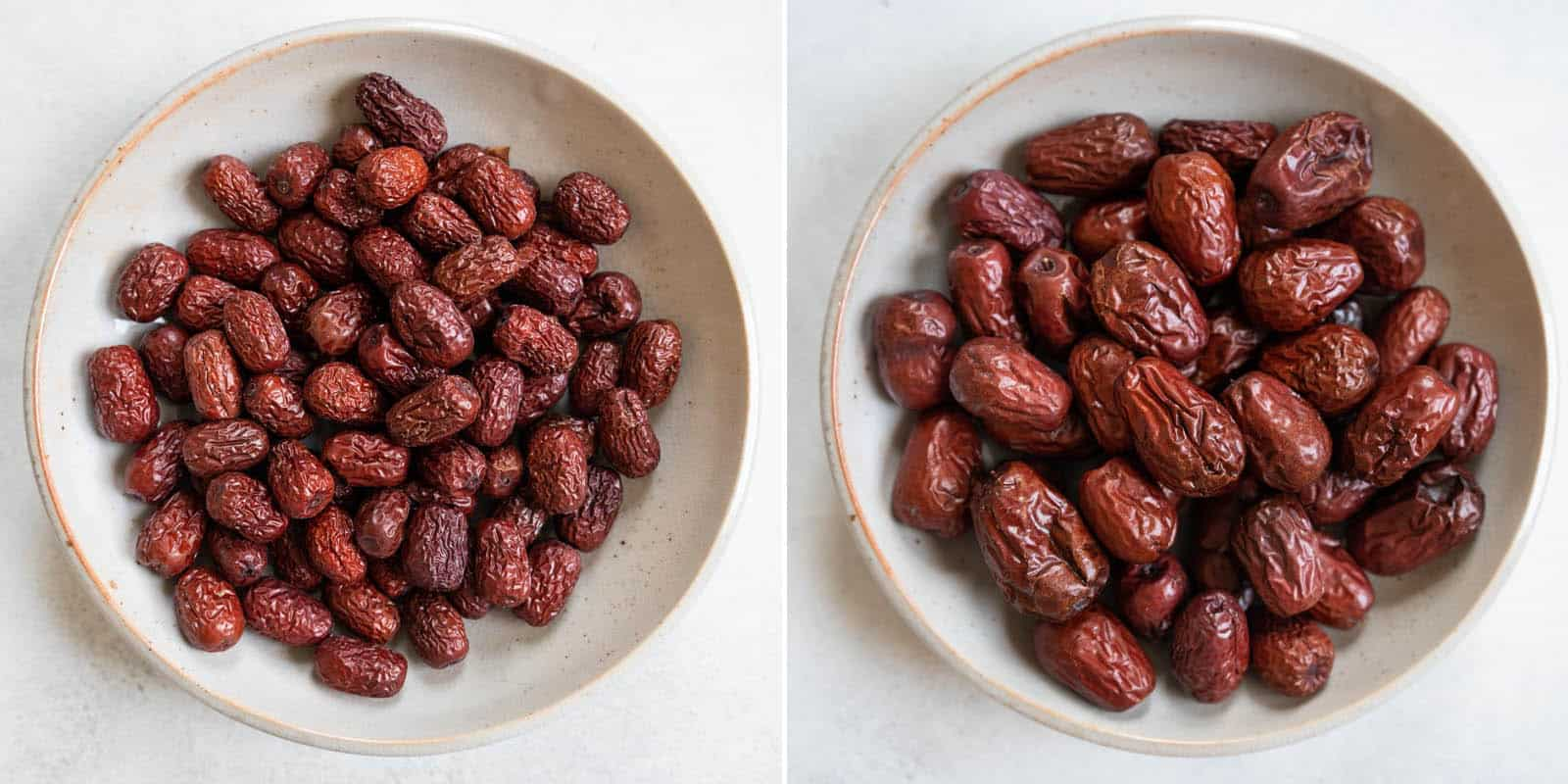 Small and large red dates