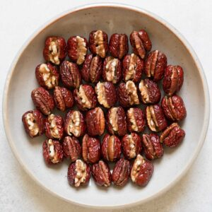 Stuffed Red Dates with Walnuts and Pecans