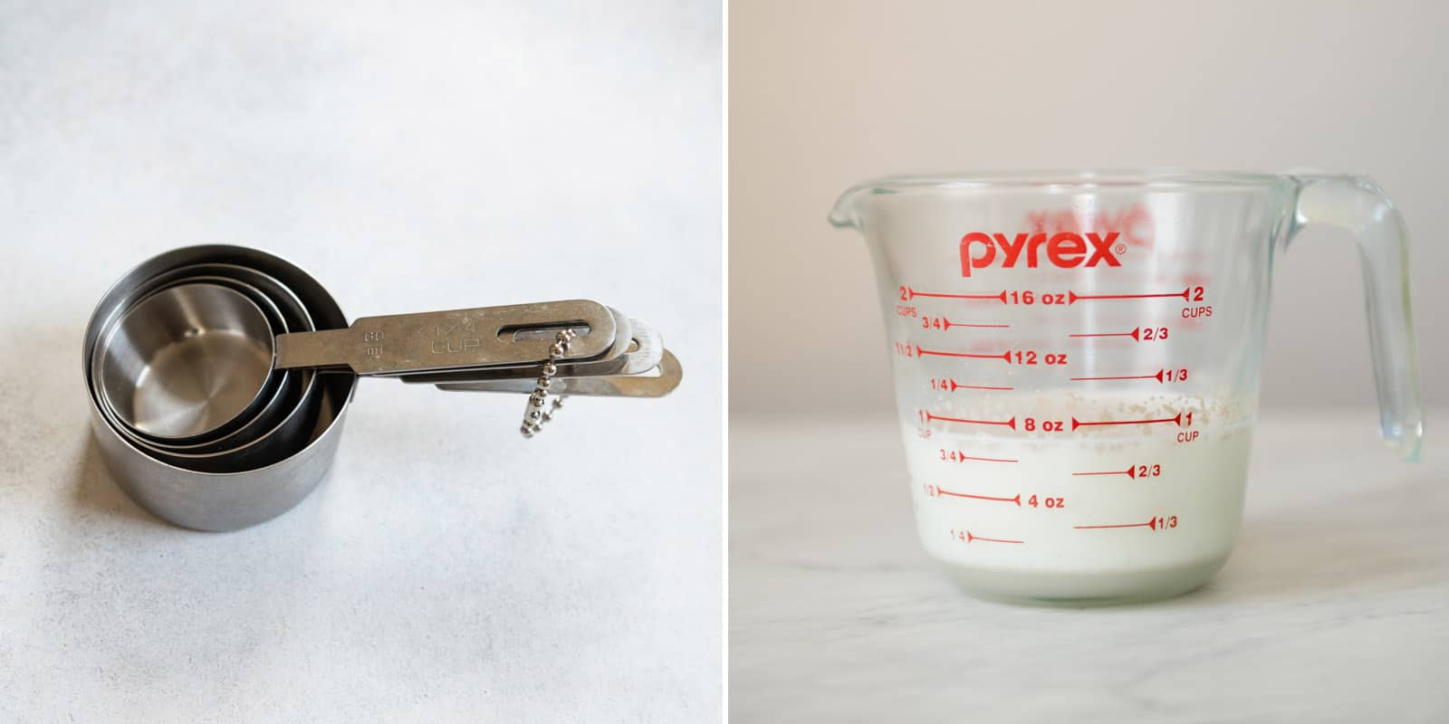 Dry and Liquid Measuring Cups