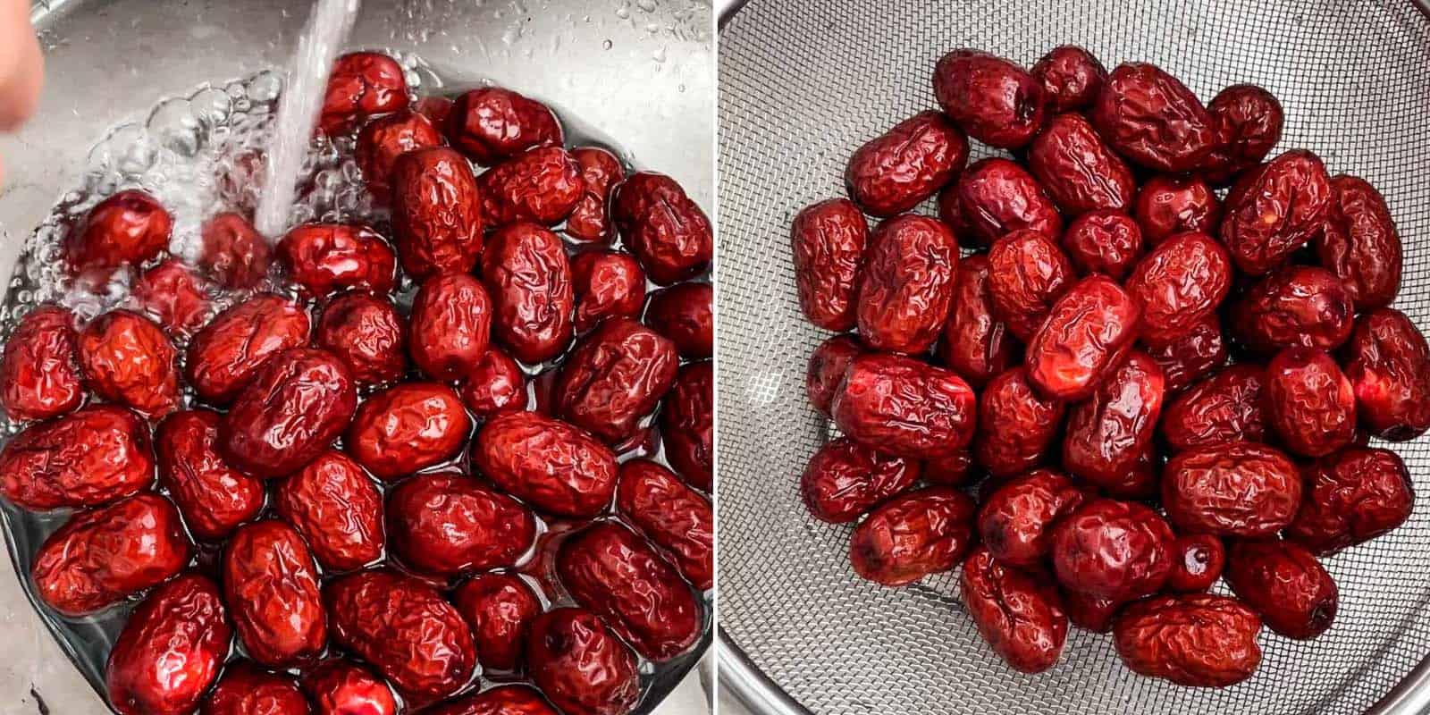 Rinsing Red Dates (jujubes)